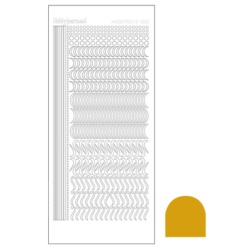 Hobbydots sticker 20 - Mirror Gold