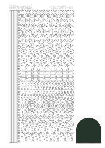 STDM18J Hobbydots sticker - Mirror - Christmas Green