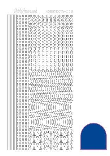 Hobbydots sticker - Mirror - Blue nr.2