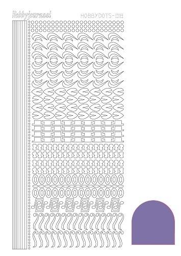 STDM189 Hobbydots sticker - Mirror Purple