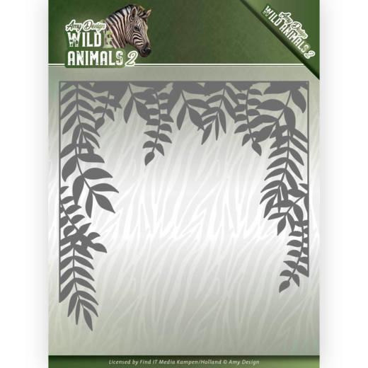 Dies - Amy Design - Wild Animals 2 - Jungle Frame  ADD10172  Formaat ca. 13,0 x 13,0 cm.
