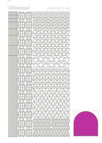 Hobbydots sticker - Mirror Pink 12