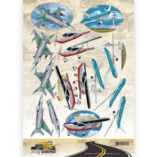 3D Knipvel - Amy Design - Daily Transport - Flying High   CD11037