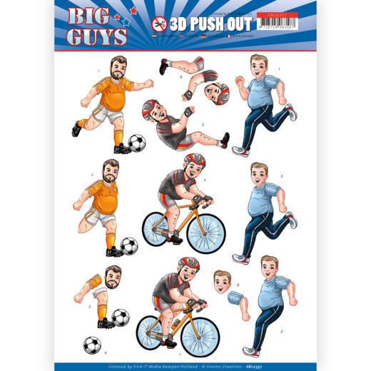 3D pushout - Yvonne Creations- Big Guys - Sports  SB10357