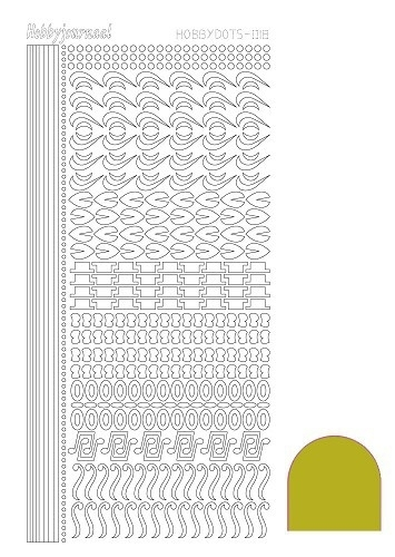 STDM18E Hobbydots sticker - Mirror Yellow