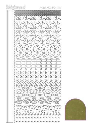 STDM187 Hobbydots sticker - Mirror Gold