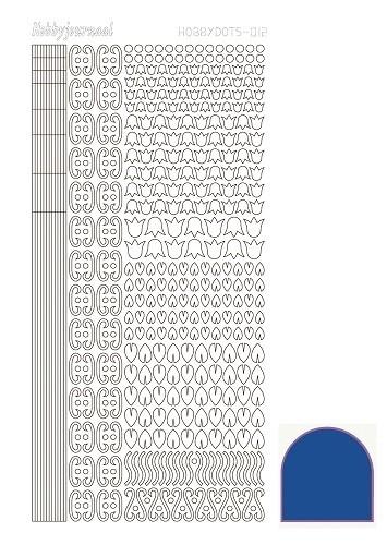 Hobbydots sticker 12- Mirror - Blue