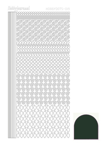 STDM19J Hobbydots sticker - Mirror - Christmas Green