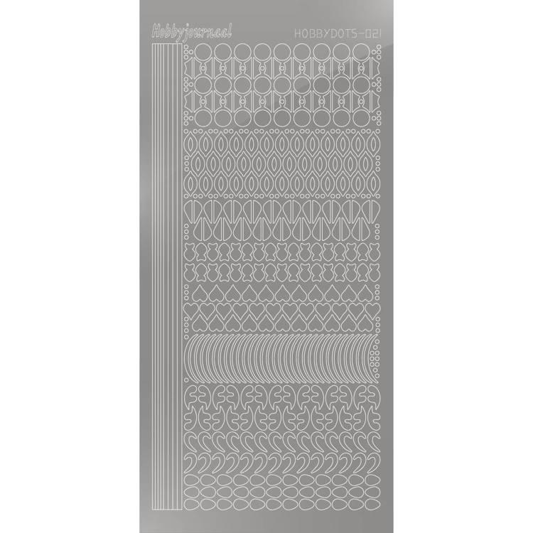 Hobbydots sticker - Mirror - Silver   STDM218