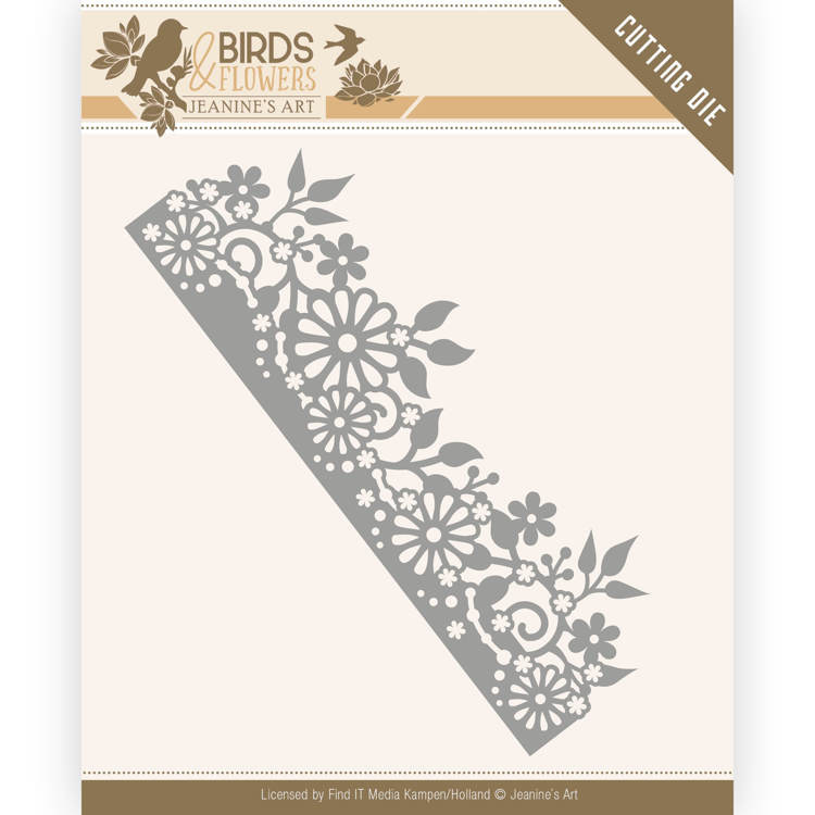 Dies - Jeanine's Art - Birds and Flowers - Daisy Border   JAD10058