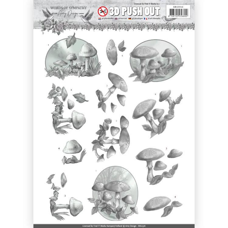 3D Pushout - Amy Design - Words of Sympathy - Sympathy Forest  SB10316