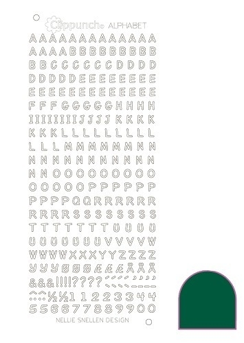 Clippunch Alphabet sticker adhesive green