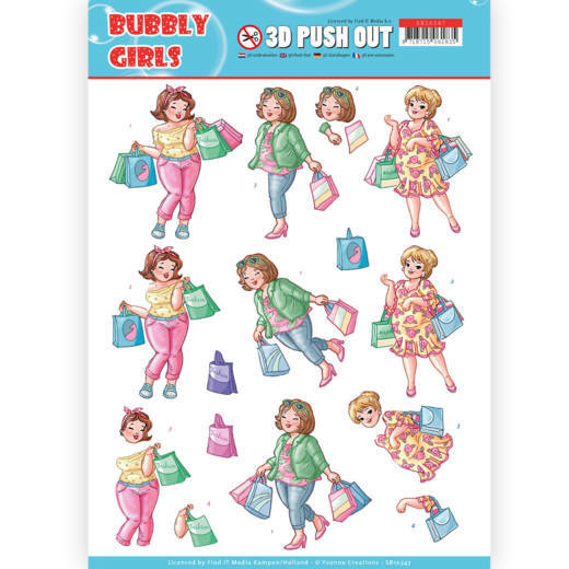 3D Pushout - Yvonne Creations- Bubbly Girls - Shopping  SB10347