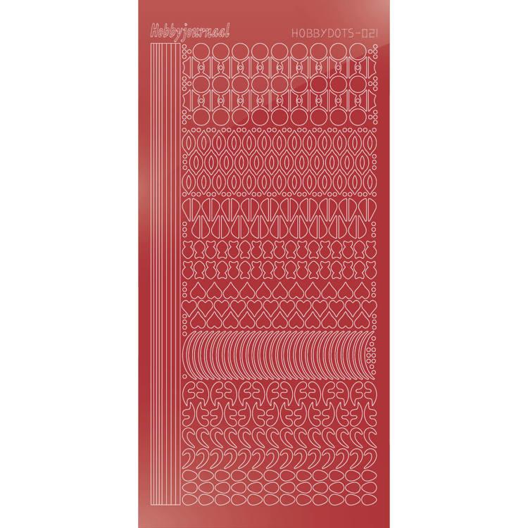 Hobbydots sticker - Mirror - Christmas Red   STDM21H