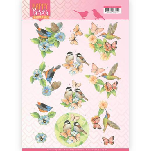 3D Knipvel - Jeanine's Art - Happy Birds - Gevederde vrienden  CD11324