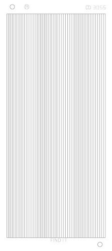 CD3055 Straight lines Platinum zilver