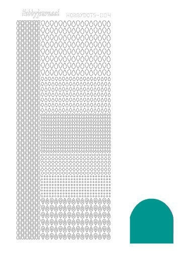 STDM04I Hobbydots sticker - Mirror Emerald