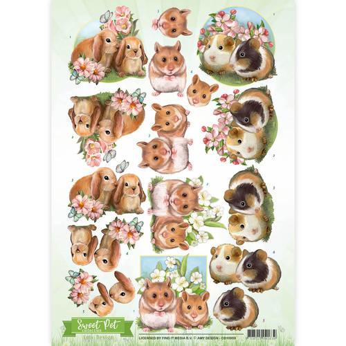 3D Knipvel - Amy Design -Sweet Pet- Rodents   CD10959