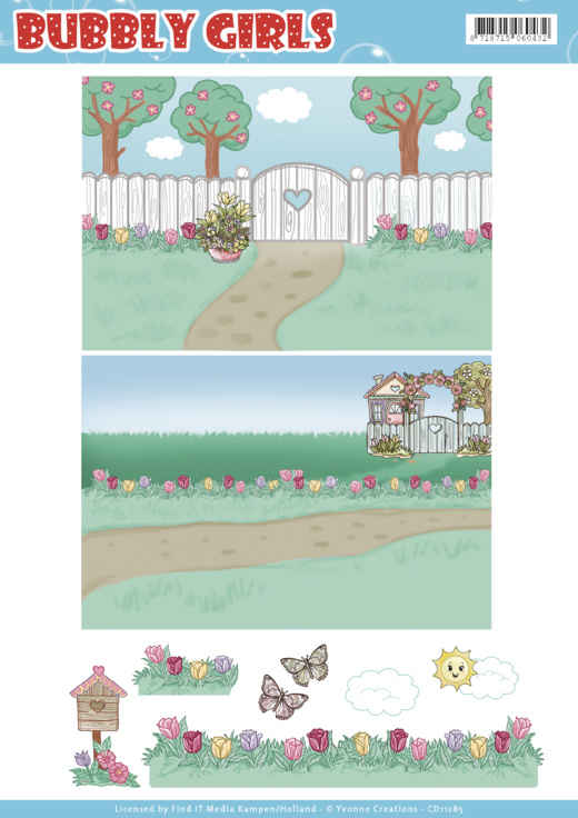Background Sheets - Yvonne Creations - Bubbly Girls - Spring  CD11285