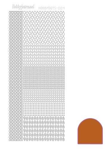 Hobbydots sticker - Mirror - Copper  nr.4