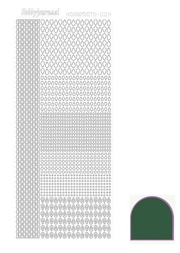 Hobbydots sticker - Mirror - Green  nr.4