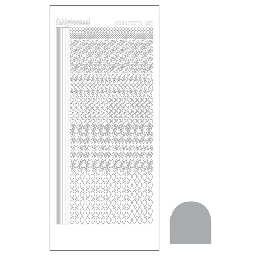 Hobbydots sticker - Mirror Silver  nr.19
