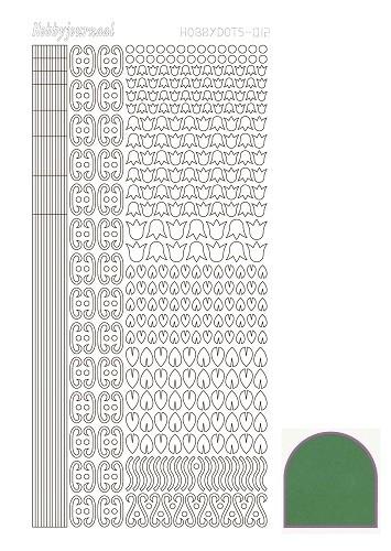 Hobbydots sticker 12 - Mirror - Green