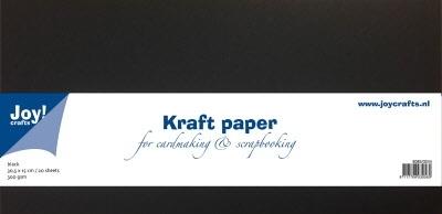 8089/0244 Kraftpapier 300gr - zwart 30,5x15cm  10 vel