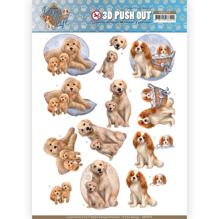 3D Pushout - Amy Design - Dog's Life - Dog Mommy   SB10379