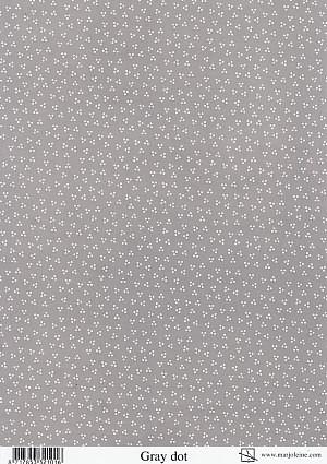 achtergrondvel Marjoleine grijze stip Grey dot