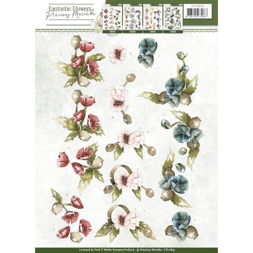 3D Knipvel - Precious Marieke - Fantastic Flowers - Poppy  CD10855