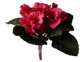 Usambaraveilchen rot Kunstpflanzen Kunstblumen