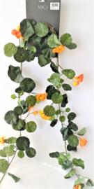 Oost indische kers oranje guirlande/slinger