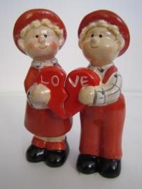 Love poppetjes set van twee