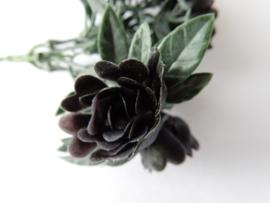 Rosenpick schwarz violett Kunstblumen und Kunstpflanzen