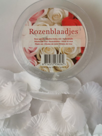 Rozenblaadjes wit kunstbloemen