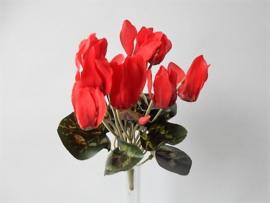 Cyclaam klein rood MICA kunstplanten en kunstbloemen