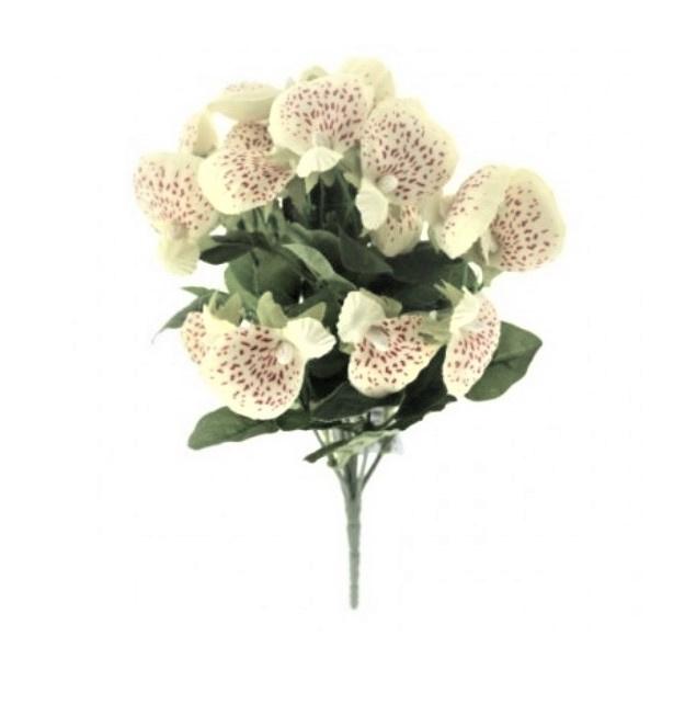 Pantoffelblume creme Kunstpflanzen Kunstblumen.