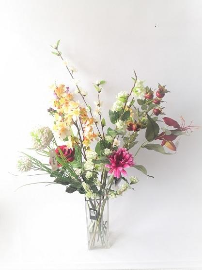 plukboeket,veldboeket,wildboeket,kunstbloemen