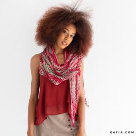 Maldivas sjaal gehaakt