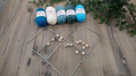 Pakket voor vierkante mandala's blauw