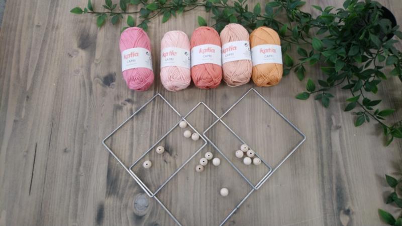 Pakket voor vierkante mandala's roze