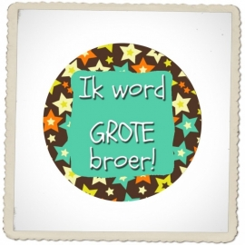 "Button ""Ik word grote broer"" (ster)"