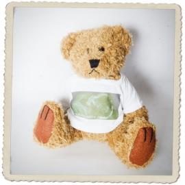 Pluche beer incl. mini t-shirtje met je persoonlijke echo en tekst naar keuze!