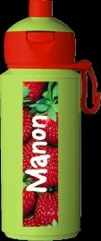 """Pop-up drinkfles Campus ontwerp """"aardbei"""""""
