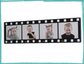 Canvas filmstrip 4 foto`s