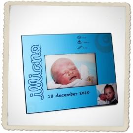 Vb. geboortekader: volledig op maat gemaakt met jouw geboortekaartje!