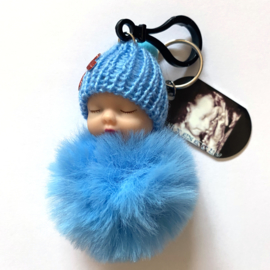 """Sleutelhanger """"baby blue"""" met echo"""