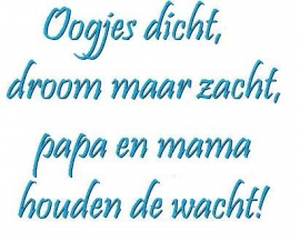Oogjes dicht