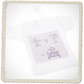 Mini t-shirtje Baby Op Komst (lila)
